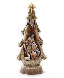 Napco Woodcut Guardian Angel with Holy Family & Reviews - Holiday Shop - Home - Macy's Tree Shapes, Holy Family, Holi, Nativity, Sagrada Familia, Holi Celebration, Bethlehem