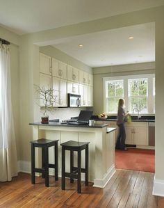 incredible kitchen half wall   half wall between kitchen and family room   Maybe One Day ...