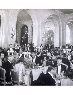 Dinner at the Ritz Paris in the 1930's
