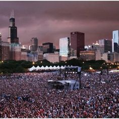Lollapalooza! Grant Park, Chicago! Top reason I want to visit Chicago.