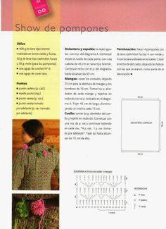 Jersey Show de Pompones Patron - Patrones Crochet