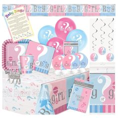 Our Ultimate party pack is a great value party pack, ideal if you want to go all out on tableware and decorations as it has a little bit of everything. This listing is for our cute Gender Reveal range which is a unisex range that can be used for a baby shower or a gender reveal party.