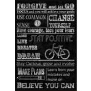 """Travel Bicycle 12"""" Wide Giclee on Canvas Wall Art - #3J684 
