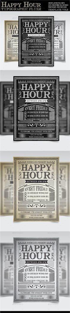 Happy Hour Flyer Vol2 - Restaurant Flyers