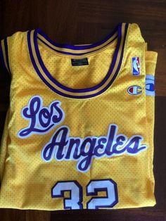 Maglia Shirt Trikot Jersey Shaq O Neal Lakers Los Angeles Basket NBA  Champion  695129c4c94e