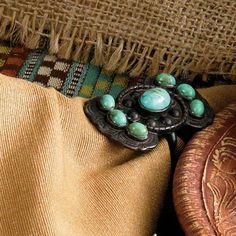 Turquoise Concho Napkin Ring | King Ranch