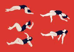 Swim - Illustrated Art Zine by Jeannie Phan, via Behance