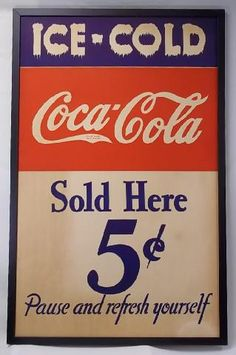 Early Coca-Cola sign