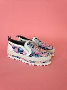 We're loving these floral skater flatforms from MSGM. Shop now http://www.harveynichols.com/96440-bleached-floral-flatform-skate-shoes/