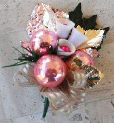 Vintage Christmas Corsage Pink, my mom would wear one for Christmas Day every year when I was little.  ❤