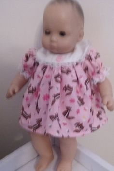 Chipmunk Dress and Bloomers for 15 inch Bitty Baby Doll by Lindassewncreations on Etsy
