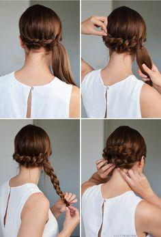 Kampaustutorial: juhlava ja helppo kiepautusletti-chignon // Hair tutorial: Pull Through Braid Chignon - NUDE | Lily.fi