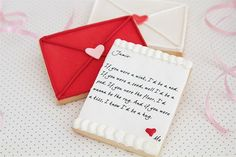Love letter cookies — what a clever way to send a love note. By bbsweetlove,
