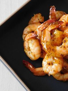 Lacquered shrimps for aperitif - shrimp Shrimp Recipes, Fish Recipes, Healthy Recipes, Mayonnaise, Pescado Recipe, Bacon Fries, Seafood Appetizers, Fish And Seafood, Clean Eating Snacks