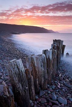 Bossington Beach, Exmoor, England
