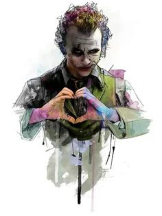 Heath Ledger as Joker by Katt Phatt Der Joker, Heath Ledger Joker, Joker Art, Joker Batman, Superman, Joker Comic, Joker Images, Joker Pics, Joker Pictures