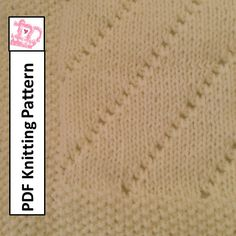 Baby Blanket Knitting Pattern, PDF Knitting Pattern - Easy Eyelet Baby Blanket/throw/afghan 28 x 36 Unique Baby Shower Gifts, How To Start Knitting, Circular Needles, Knitting Patterns, Knitting Ideas, Pdf, Handmade Gifts, Stitch, Blanket