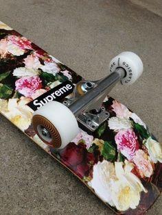 Shoes: supreme skateboard, vintage, skater, skate, skateboard, skates, supreme, flowers, floral, jewels - Wheretoget