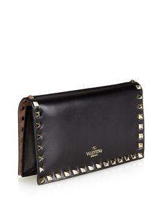 Rockstud small leather clutch   Valentino   MATCHESFASHION.COM US