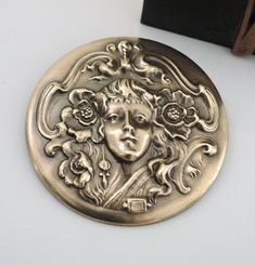 Arts & Crafts Movement Ambitious Vintage Antique Arts & Crafts Celtic Pewter Brooch Ruskin Style Orange Cabochon