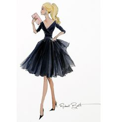 Not hard to see why Catherine the Great chose to take over Russia in a classic LBD- sketch by Robert Best.