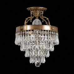 Draping Crystals Chandelier- Large
