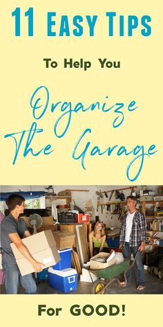 11 Easy Tips For Garage Organization: Organize Your Garage For Good! Declutter Your Home, Organize Your Life, Organizing Your Home, Organizing Toys, Garage Organization Tips, Nursery Organization, Fun Questions To Ask, Time Management Tips, Clean House