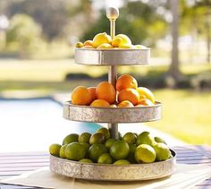Galvanized Metal 3-Tier Stand | Pottery Barn