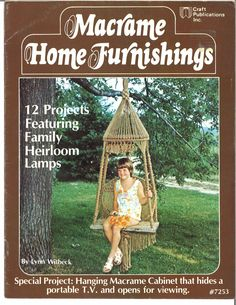 Macramé Home Furnishings • 1970s Macrame Knots How To Instruction Pattern Book • 70s Vintage Plant Pot Hanger Hangers Lamp Knotwork •…