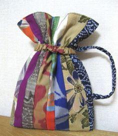 Kimono remake pouch