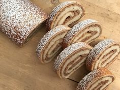 Nut strudel - baking with Christina . Strudel, Almond, Food And Drink, Sweets, Bread, Baking, Desserts, Stollen, Inspiration