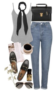 """""""Untitled #9470"""" by nikka-phillips ❤ liked on Polyvore featuring Topshop, Yves Saint Laurent, WearAll, Gucci and Tom Ford"""