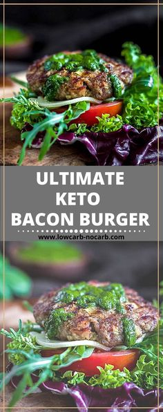 This Juicy Bunless Bacon Keto Burger, as one of the best Ground Beef Keto Recipes for the grilling season, will fully replace your Keto Fast Food craving with addition to the stuffed bacon inside. Keto BBQ season can start with our fully Gluten-Free garlic flavor Keto Patty filled with herbs from your garden everyone will be asking for. Do you like BBQ? We love the grilling season as soon as the first sun comes out and the weather gets a little bit warmer. Beef Recipe Low Carb, Ground Beef Keto Recipes, Low Carb Dinner Recipes, Keto Dinner, Healthy Recipes, Keto Fast Food, Keto Burger, Sugar Free Recipes, Food Cravings