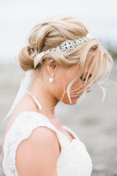 This diamond detailed ribbon headband is to die for: http://www.stylemepretty.com/2013/10/10/sweden-wedding-from-sara-norrehed-photography/ | Photography: Sara Norrehed - http://www.saranorrehed.com/