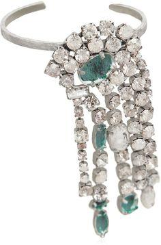 Maison Margiela Painted Crystals Cuff Bracelet
