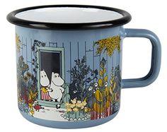 Muurla 7 DL The Moomin House Enamel Mug for sale online Moomin House, Les Moomins, Tove Jansson, Cute Tea Cups, Cool Mugs, Shabby, Tea Set, Kitchenware, Decoration
