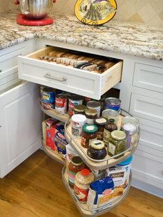 reclaim that wasted space in our corner cabinet - Kitchen Corner Cabinet Ideas