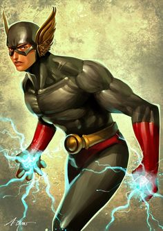 Gundala by noviant Indonesian superhero from southeast Asia that has the power of lightning. Strength and speed.
