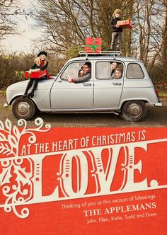 card design: Christmas Heart