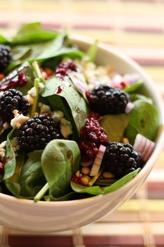 Blackberry Salad with Blackberry Port Dressing