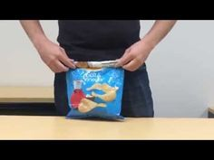 Without Using A Clip, He Seals A Bag Of Chips With One Simple Trick