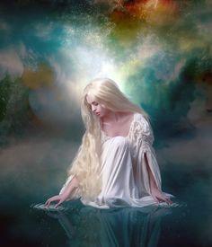 Water Digital Art - Ripples by Karen Koski Fantasy Magic, Fantasy Art Women, Beautiful Fantasy Art, Beautiful Fairies, Fantasy Girl, Angel Artwork, Angel Warrior, Angel Pictures, Guardian Angels
