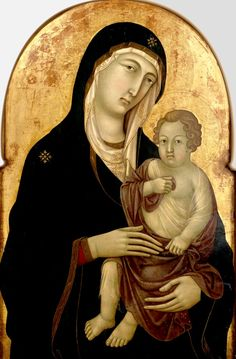325 Madonna and Child, Ugolina da Siena-aka Ugolino di Nerio (fl. Catholic Art, Catholic Saints, Early Christian, Christian Art, Religious Icons, Religious Art, Joseph, Madonna And Child, Ap Art