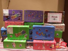 Santa Shoebox: Well packed/wrapped boxes!