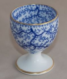 Antique Minton BLUE SEAWEED Egg Cup