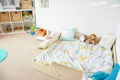 Lit au sol pour bébé façon Montessori : retour d'expérience !