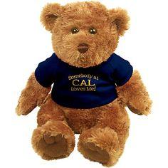 CALIFORNIA CAL BEARS STUFFED PLUSH FOOTBALL KEYCHAIN