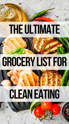 A grocery list to help you eat clean and lose weight. Start living healthier with a clean diet. Clean Eating Grocery List, Clean Eating Recipes For Weight Loss, Weight Loss Meals, Clean Eating Meal Plan, Healthy Food To Lose Weight, Clean Eating Snacks, Foods To Loose Weight, Healthy Eating Plans, Meals To Lose Weight