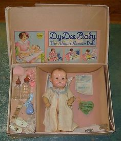 Vintage Effanbee Dy Dee Baby Doll Lot With Box Clothes and Accessories - № 2