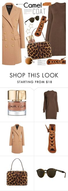 """""""wear a camel coat!"""" by jesuisunlapin ❤ liked on Polyvore featuring Smith & Cult, Balmain, Gianvito Rossi, Valentino, Tuleste and Ray-Ban"""